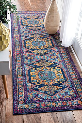 8 Inch Persian Rug - nuLOOM Delena Persian Floral Runner Rug, 2' 8