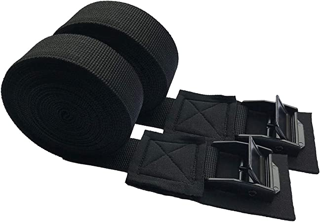 1 Pair Outdoor Nylon Kayaking Luggage Bundling Belt Fixing Strap with Strong Buckle 300CM*2.5M for Car Surfboard Kayak SUP Long Riiai Kayak Tie Down Strap for Roof Rack