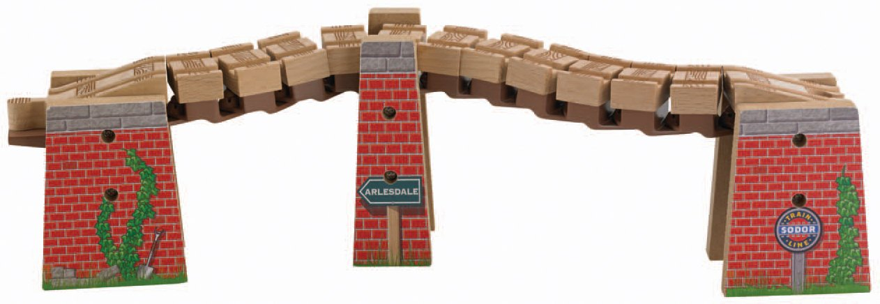 Fisher-Price Thomas the Train Wooden Railway Wacky Track Bridge