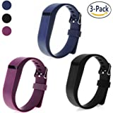 SnowCinda For Fitbit Flex Strap, 3PCS Adjustable Silicone Replacement Accessories Band with Clasps For Fitbit Flex Wireless Activity Tracker and Sleep Wristband