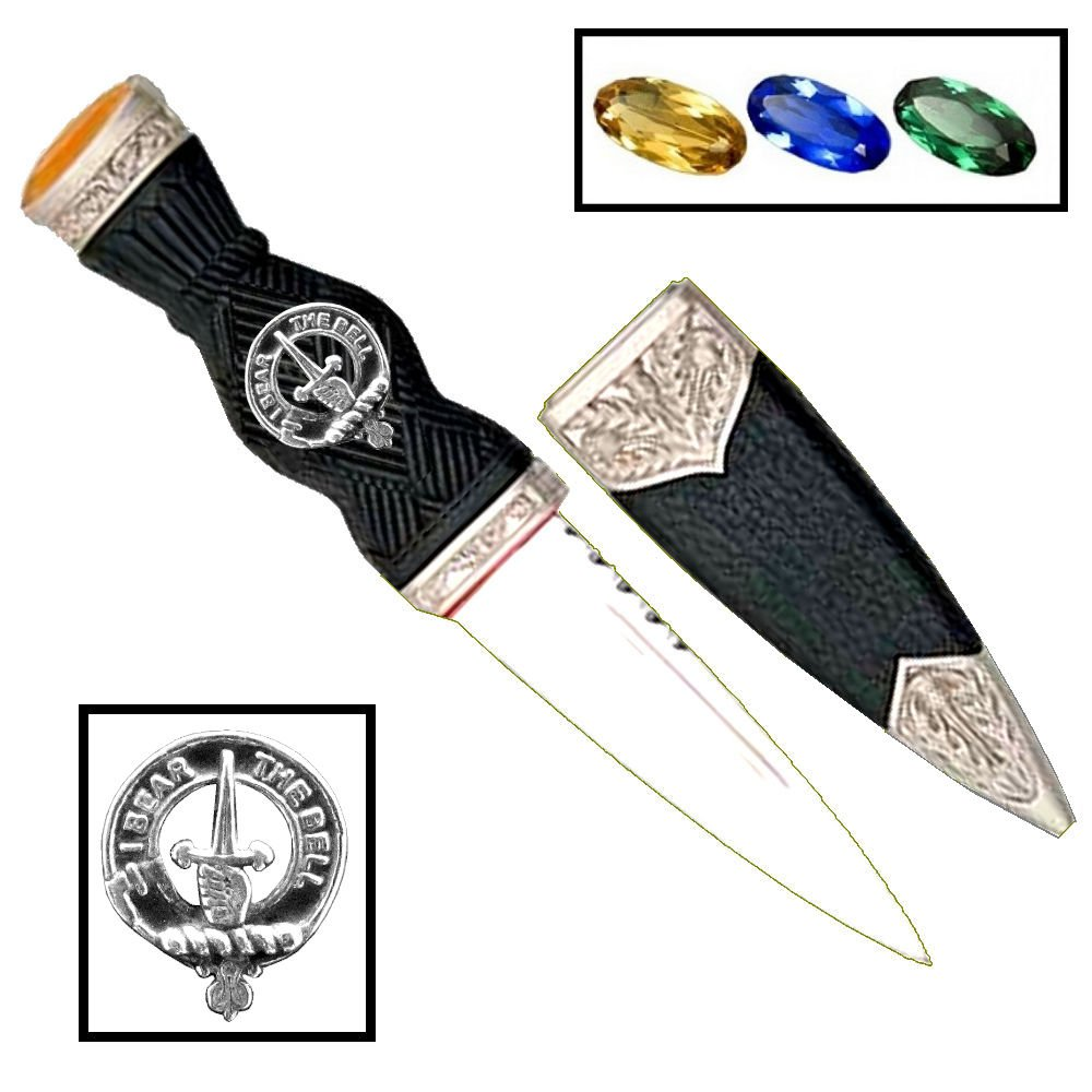 Scottish Clan Crest Sgian Dubh ~ Bell