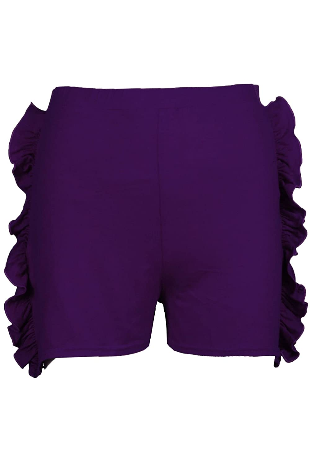 Be Jealous Childrens Girls Casual High Waisted Side Ruffle Peplum Frill Shorts