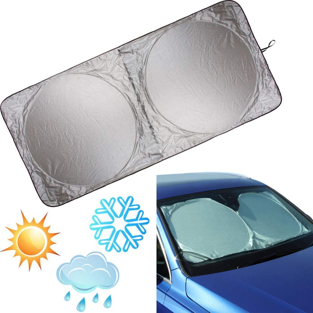 Vosarea 1pcs Car Sunshade Reflective UV Blind Visor Protector Windshield Windscreen for Coupe MPV Family cars