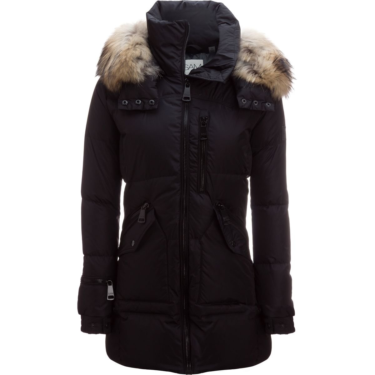 72a70be19 Amazon.com: SAM Fur Cruiser Jacket - Women's Black/Natural, S: Clothing