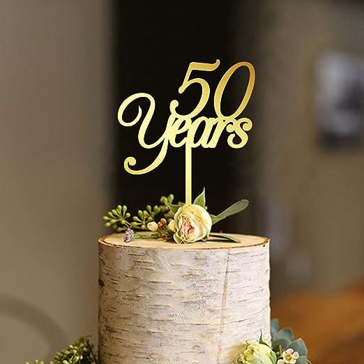 Decoración para tarta de cumpleaños de 50 años 30 40 50 60 ...