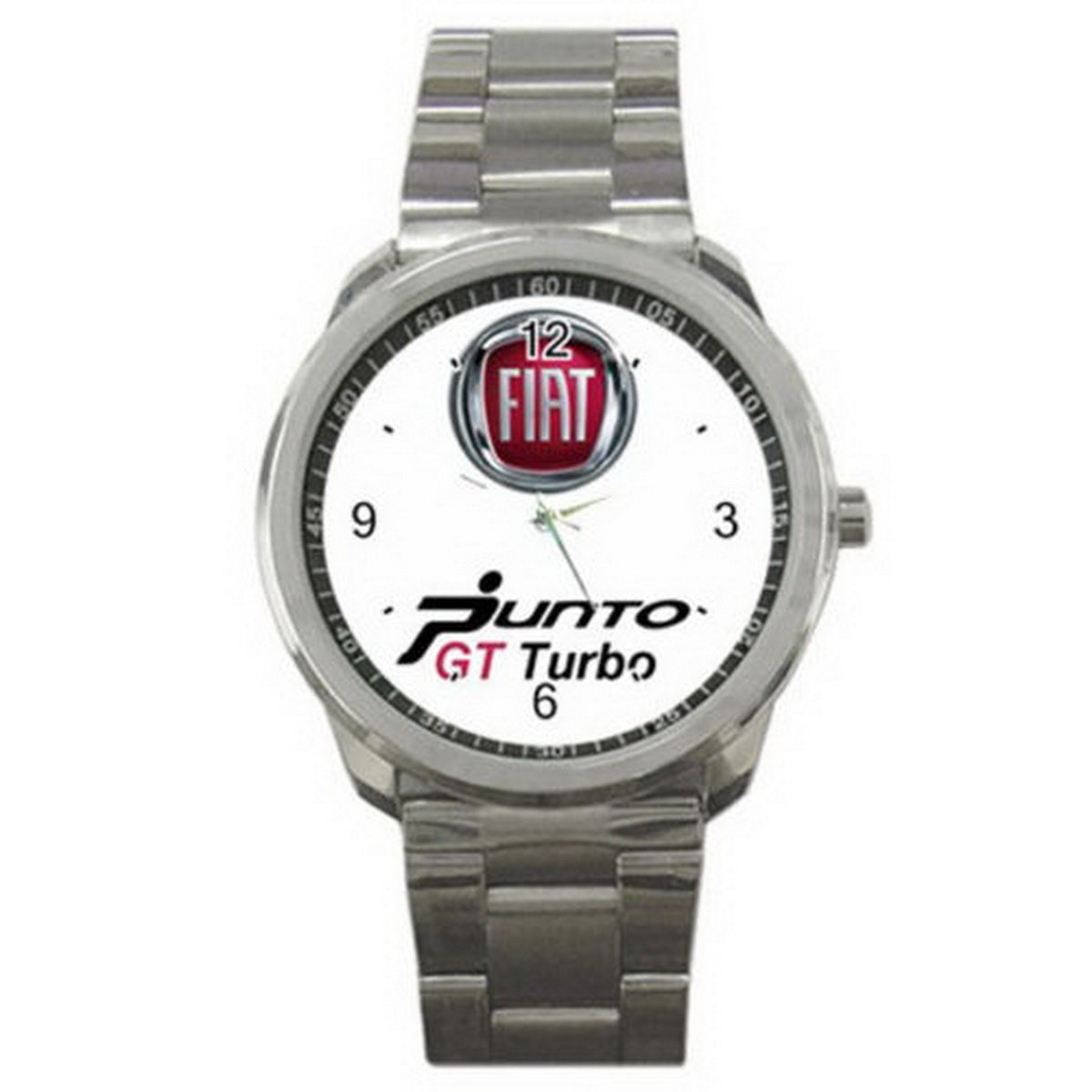 Relojes de pulsera hombres frysc060 Custom New Item Fiat Punto GT Turbo design for Sport Metal Watch: Amazon.es: Relojes