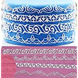 """Anyana 14"""" sugar edible wave scroll flourish cake silicone Embossing Mat Texture fondant impression lace decorating mold gum paste cupcake topper tool icing candy imprint baking moulds sugarcraft"""