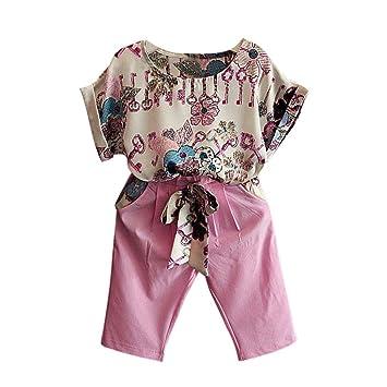 Sannysis Mädchen Kleidung Set, Kinder Mädchen Kurzarm T Shirt + Hosen