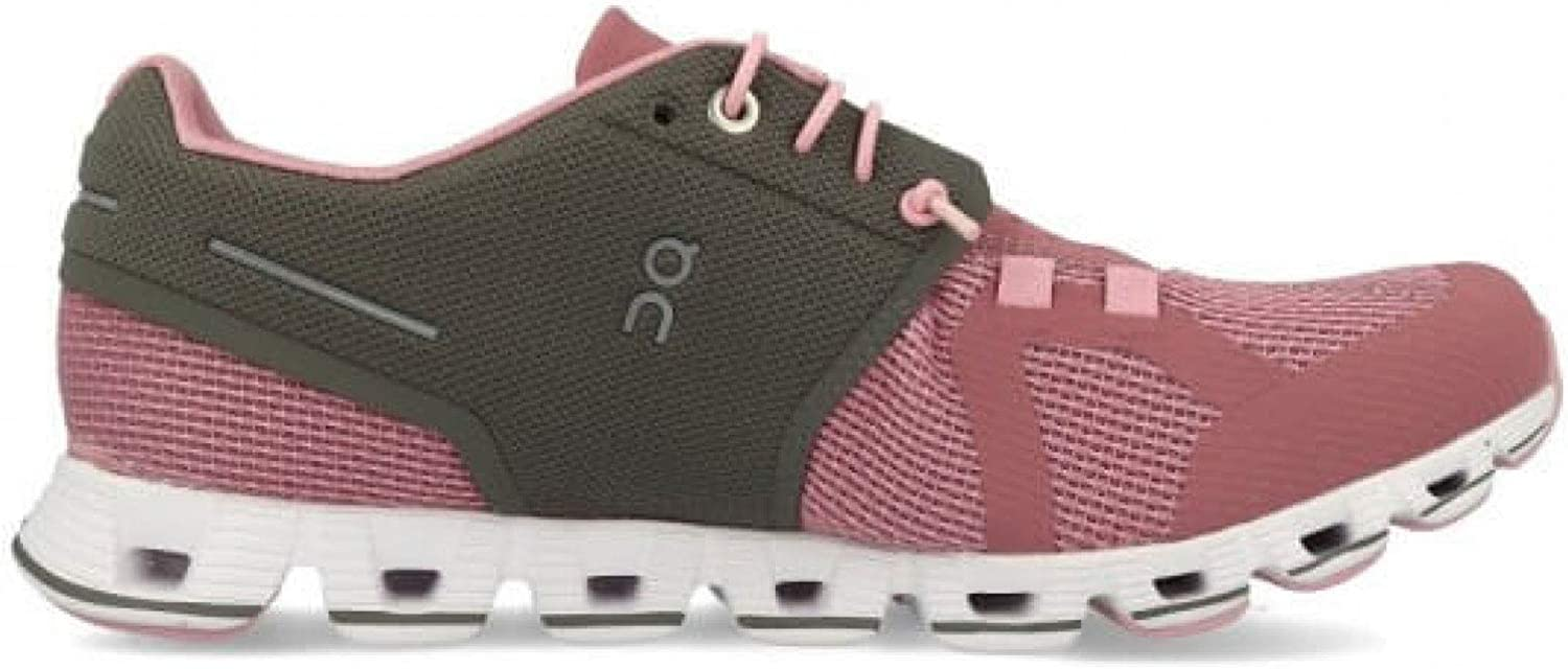On-Running Womens Cloud Charcoal Rose Running Shoe – 8.5