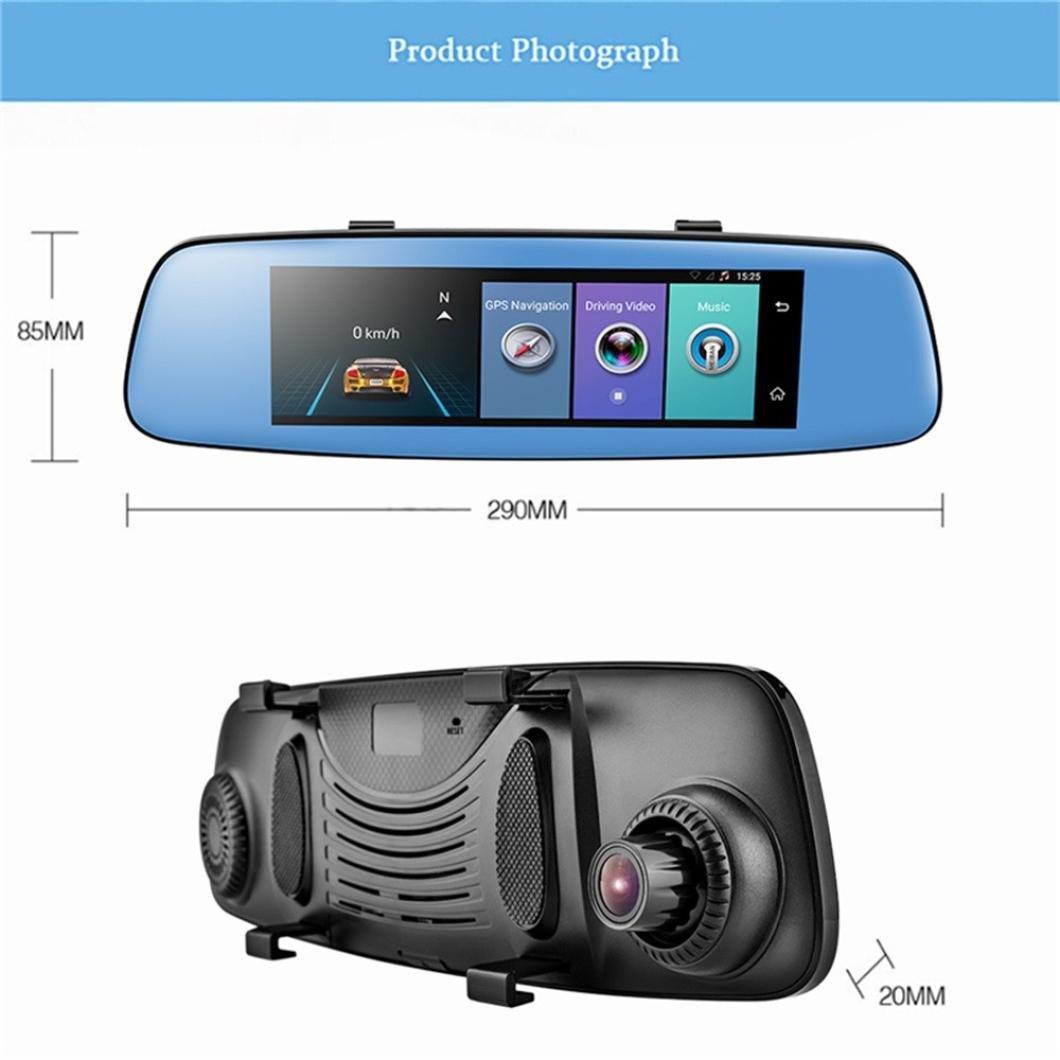 Bovake Car Recorder ★ Dash Cam | HD1.3MP 1080P/Webcam Car DVR Dual Lens Cameras Vehicle Rear Video Recorder (Black)