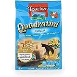Loacker Quadratini Premium Italian Vanilla Wafer Cookies, 250g/8.82oz, Vanilla, 250 Grams