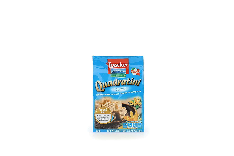 Loacker Quadratini Premium Vanilla Wafer Cookies, 250g/8.82oz