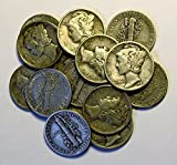 1916-1945 90% Silver Mercury Dimes Circulated