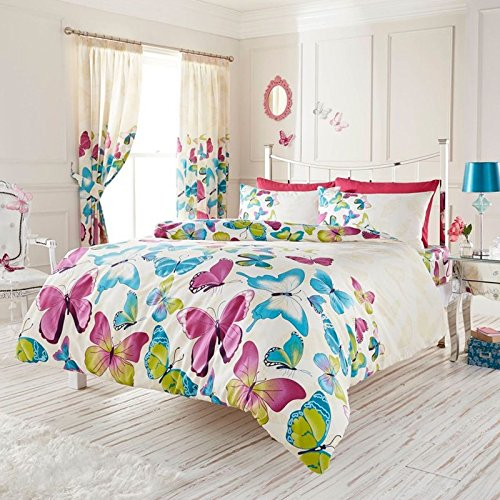 Fashion Butterfly UK King/US Queen Duvet Cover and Pillowcase Set