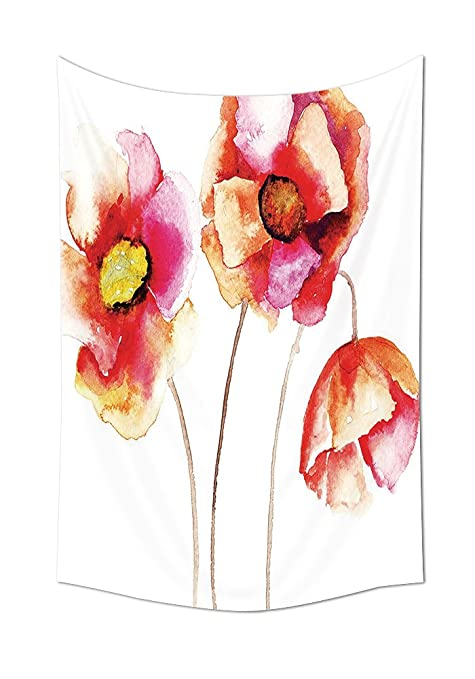 Poppy Decor Collection Watercolors Vibrant Poppies Graphic Peace And