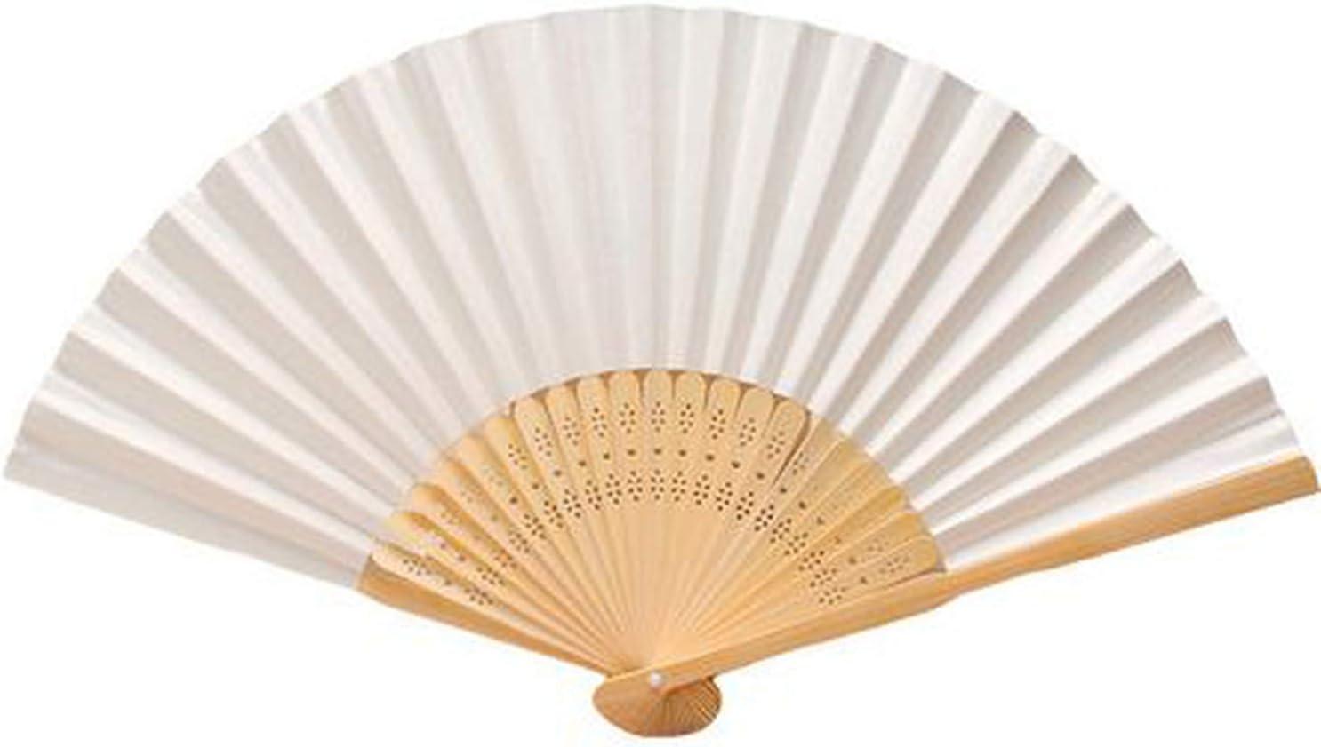 F3Q2 Paper Hand Fan Folding Wedding Party Favor Decoration Colorful 1PC