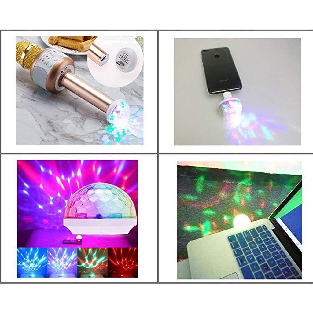 Disco Light,FTXJ USB Mini LED Night Light Color Changed by Sound Music Magic Lights LED Mushroom (White, Type-C) by FTXJ_Home Tool (Image #4)