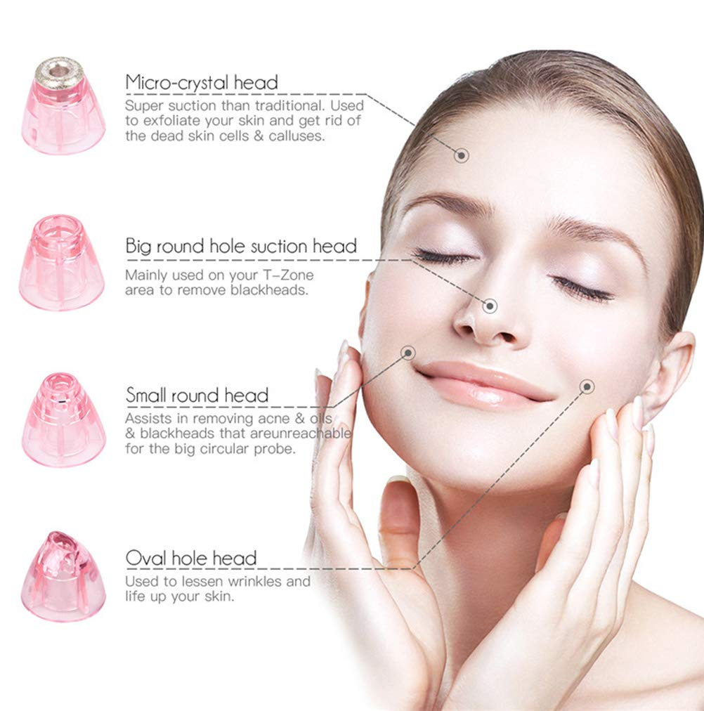 Wj Blackhead Remove Beauty Instrument, Portable Face Exfoliation Pore Deep Clean Care Massager, Acne Pimple Vacuum Aspiradora, Carga USB, ...