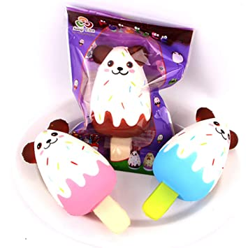 Adeeing Simulate Animal Shape Ice Cream Squishy Slow Rising Kids Relieves Stress Toy