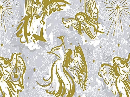 Premium Christmas Gift Wrap Paper - Musical Angels - 24 inches x 85 feet