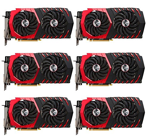 6 Packs of MSI Radeon RX 580 GAMING X 8GB GDDR5 Graphics Card for Crypto  Coin ETH Ethereum Zcash ZEC Bitcoin Mining Rig