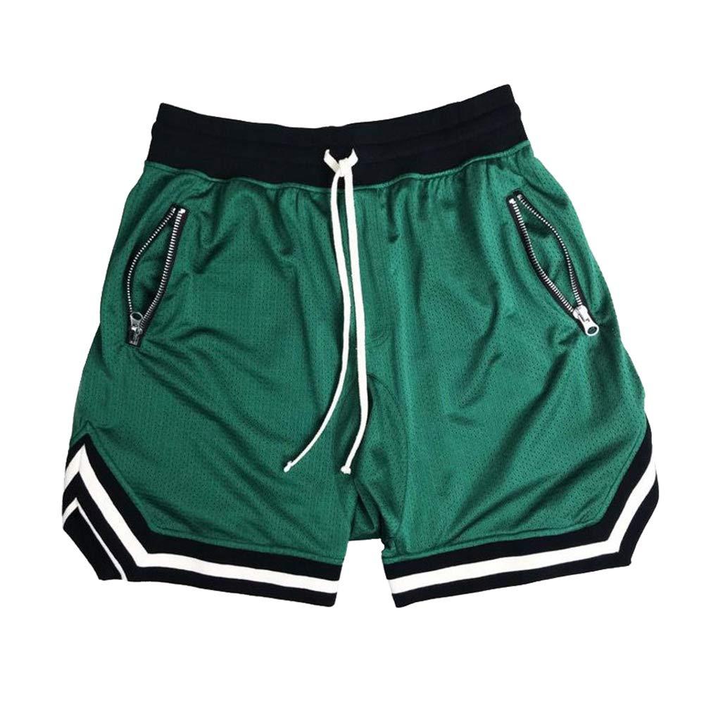 Mxssi Uomo Pantaloncini da Basket Traspirante Hiphop Pantaloncini Quick Dry Pantaloncini Larghi Pantaloncini Chino Capri Pantaloni Sportivi da Allenamento Corti Palestra Pantaloncini