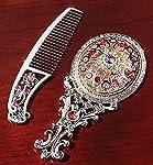 The Paragon Petite Vanity Set - Embellished Mini Hand Mirror Comb Set