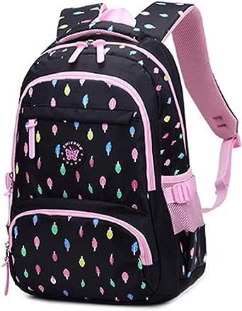 Rugzak meisjes schoolrugzak grote schooltas voor meisjes waterdicht kinderrugzak voor meisjes 3-6 klassen (8 9 10 11 12 jaar)