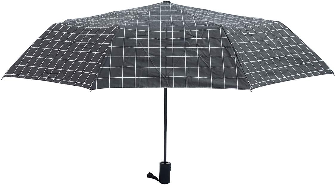 Ergonomic Handle Multiple Colors white grid Automatic Umbrellas UV protection Auto Open Close Large Compact Folding Travel Umbrella Windproof Reinforced Canopy