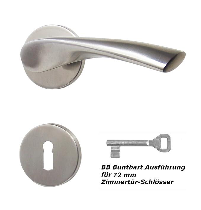 Edelstahl T/ürbeschlag TA-1206 R BB T/ürdr/ücker T/ürgriffe T/ürbeschl/äge T/ürklinke