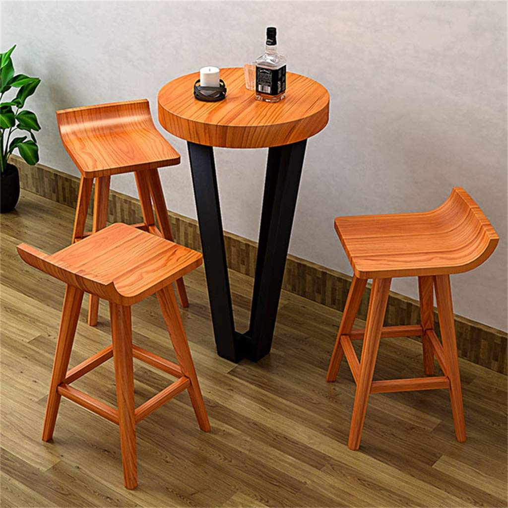 Amazon.com: Wooden Bar Counter Stool Retro Dining Chair Barstools Ergonomic Curved Seat for Kitchen | Pub | Cafe - Max Load 200kg - Light Brown: Kitchen & ...