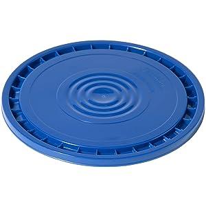Meranti Reusable Easy Peel 3.5, 5, 6, and 7 Gallon Bucket Lid | Food Grade | Blue