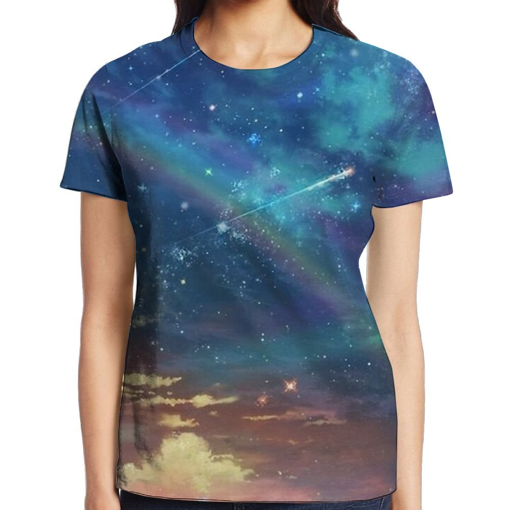 Meteor Shower Women's Classic Graphic Tee Short Sleeve Baseball Tees by XIA WUEY