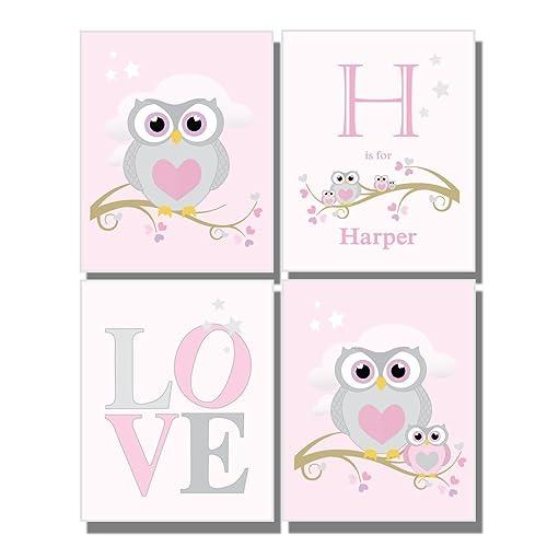 Amazon.com: Baby Girl Pink Nursery Custom Wall Art Letters Name ...