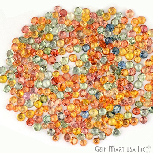 5 Carat Lot of AAA Quality Natural Multi Sapphire Gemstone 3-4mm Round Shape Faceted Mix Lot Gemmartusa loose Gemstone (MS-60014)
