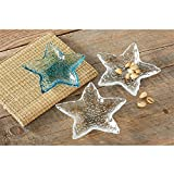 Mud Pie 4855071 Starfish Dip Cup Set, One Size, Blue