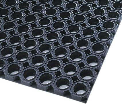mit offenem R/ü cken BxTxH 1000X1500x23 mm Gummiwabenmatte aus Naturkautschuk schwarz