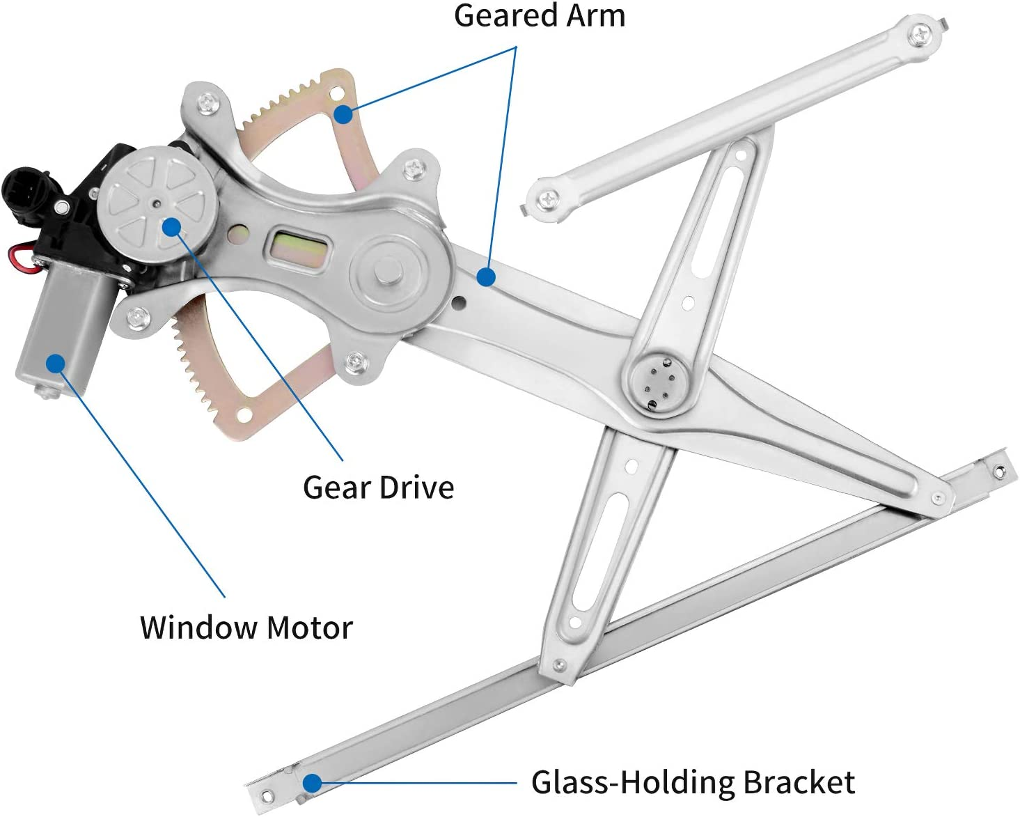 YITAMOTOR Front Driver Side Power Window Regulator w//Motor Compatible with 2002-2006 Toyota Camry YTWG0088