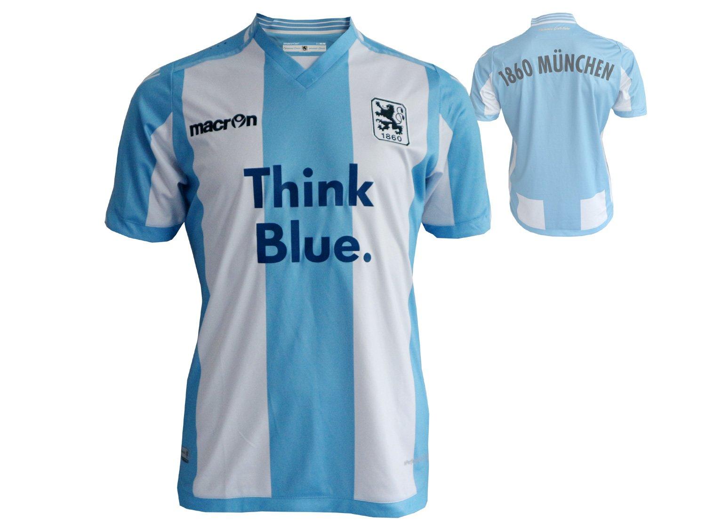 Macron TSV 1860 München Home Fútbol Jersey M15 León doméstica fusball Fan Camiseta Color Azul Claro Y Blanco, Unisex, Sky Blue/White, Small: Amazon.es: ...