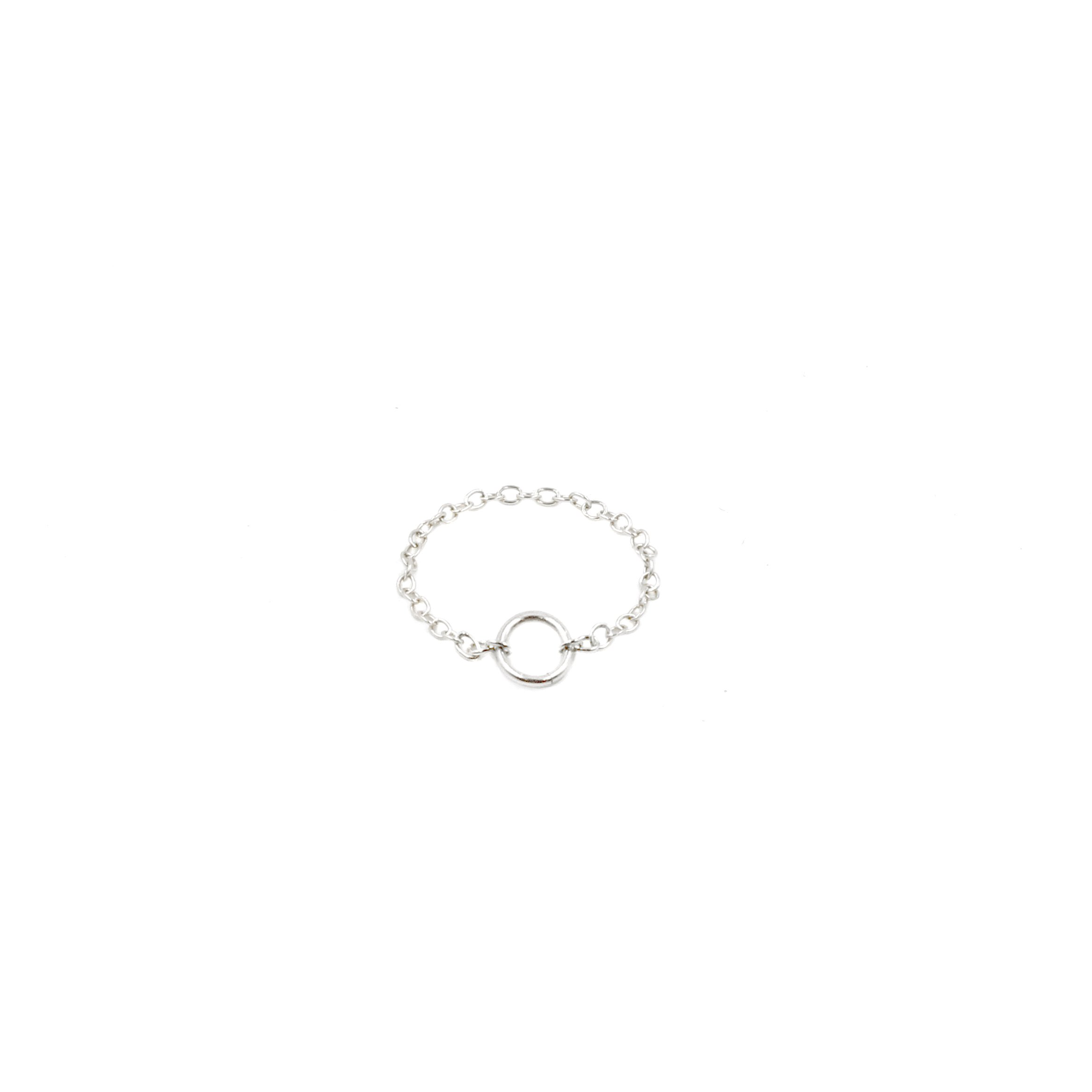 """MaeMae Jewelry NEW """"Everything Happens for a Reason"""" Ring: Stackable Circle Chain Ring, Dainty, Thin, Minimal & Delicate - Handmade with Love by (sterling silver, 10.5)"""