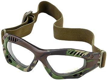 Mil-Tec Commando gafas de protección Air Pro Claro Lente Woodland Marco