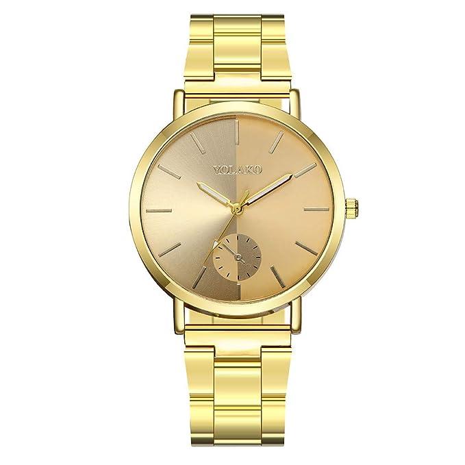 Mymyguoe Reloj de Pulsera Hombre Oro Reloj de Pulsera Hombre Reloj de Cuarzo Reloj Mujer Unisex Reloj de Pulsera Reloj Mujer Moda Reloj analogico Reloj de ...