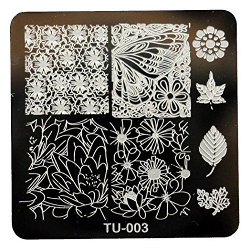 [Creazy Pattern DIY Nail Art Image Stamp Stamping Plates Manicure Template (TU-003)] (Pink Lady Costume Images)