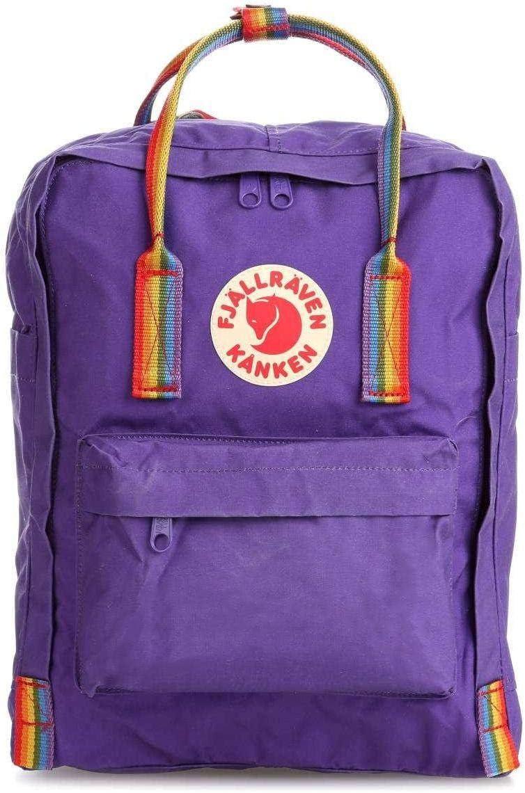 Fjallraven Kanken Classic School Rainbow Backpack Outdoor Mountainling Bag Purple
