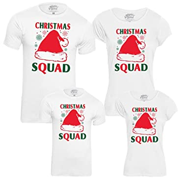 Matching Christmas Shirts For Family.Bonorganik Christmas Squad Pack Of 4 Family Matching Cotton