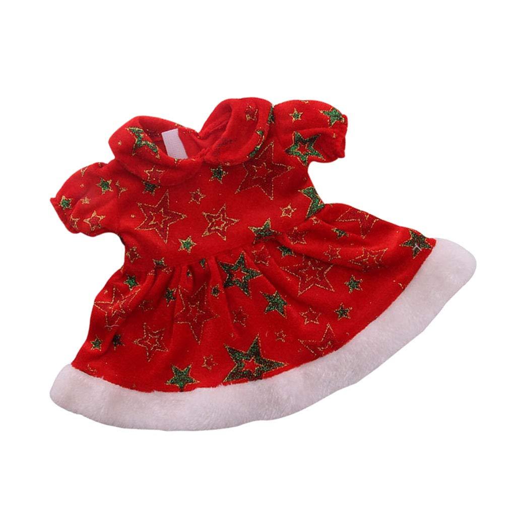 Minirock Pullover A Jeans Fenteer Mode Puppen Weihnachtskost/üm Kleid Beanie M/ütze Kleidung Set F/ür 18 Zoll Puppen Dress Up Zubeh/ör