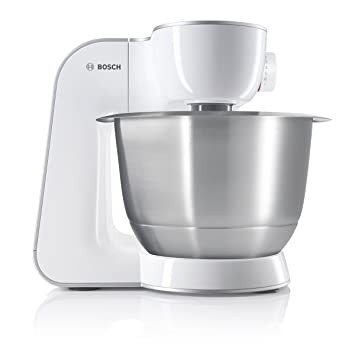Bosch MUM54270DE Küchenmaschine (900 W, 3,9 L, Edelstahlrührschüssel,  Würfelschneider)
