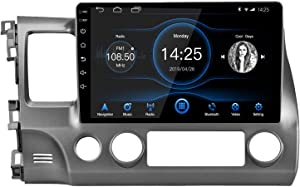 EZoneTronics Android 10.1 Double din car Stereo GPS Navigation Bluetooth USB Player for Honda Civic 2007-2011