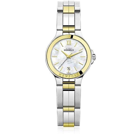Reloj mujer Michel Herbelin Newport bicolor - fondo Nacre ...