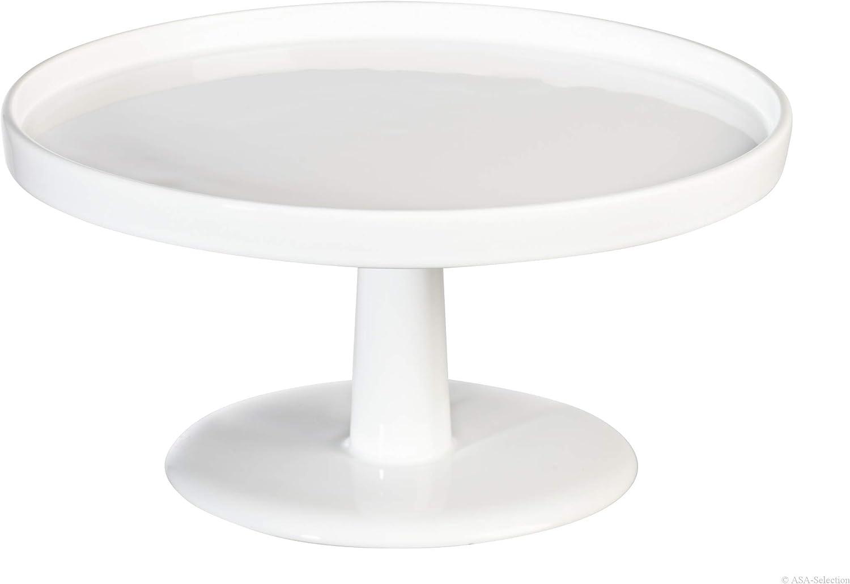 ASA Selection Grande Tortenplatte Teller Servier Platte Keramik Weiß Ø 22.5 cm